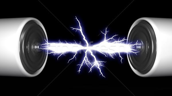 batteries and electric arc Stock photo © njaj