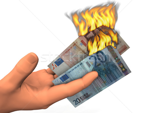 euro  banknotes of soaring Stock photo © njaj