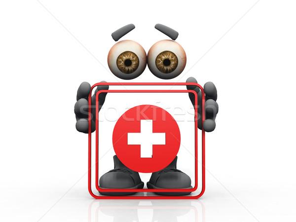 health symbol on a white background  Stock photo © njaj