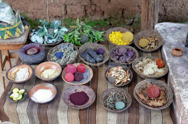 Naturale lana tessili filati tradizionale Foto d'archivio © njaj