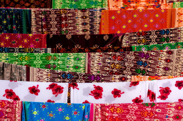 batik of indonesia Stock photo © njaj