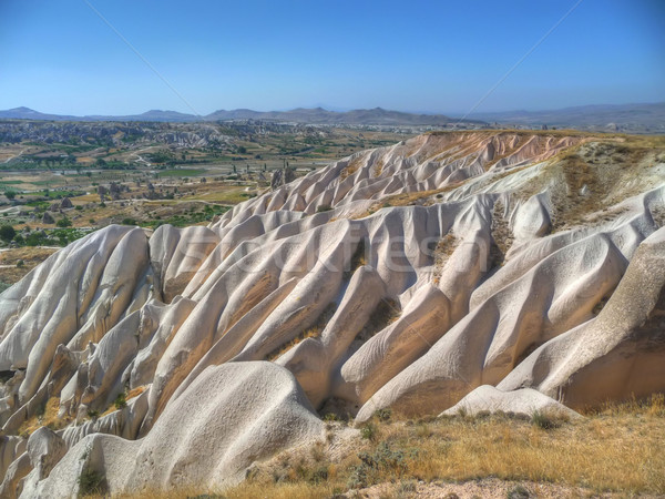 eroded landscape of Cappadocia Stock photo © njaj