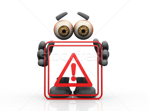 danger symbol on a white background  Stock photo © njaj