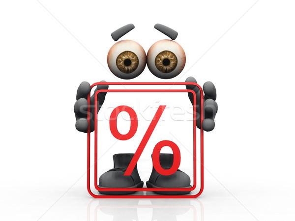 percentage  symbol on a white background  Stock photo © njaj