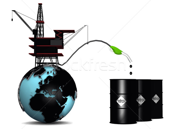 oil pump and earth Stock photo © njaj