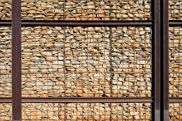 stone wall and steel Stock photo © njaj
