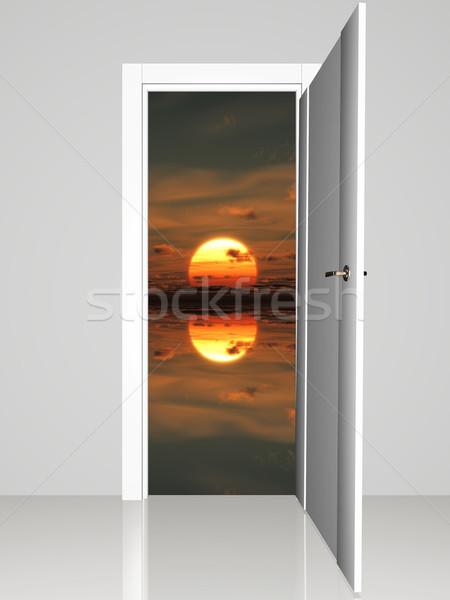 open door on a sunset Stock photo © njaj