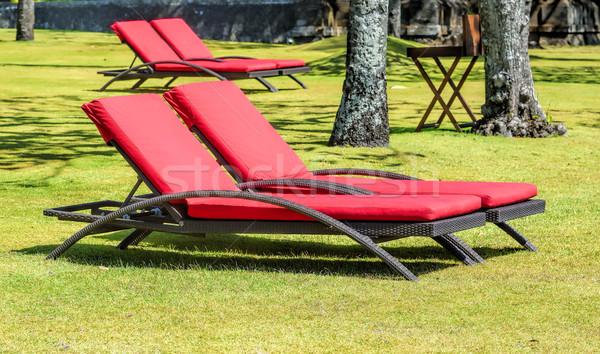 parasol and sunbed Stock photo © njaj