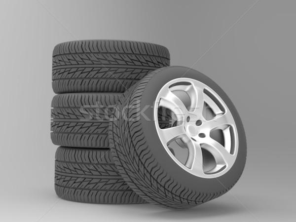 a set of four wheels Stock photo © njaj