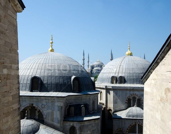 Hagia Sophia Museum and blue mosque Stock photo © njaj