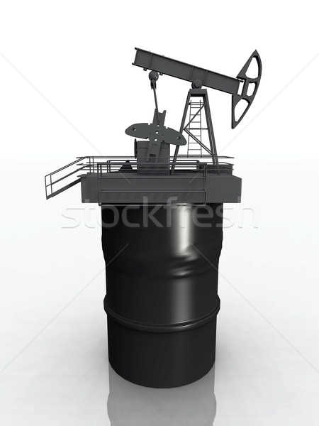Olio tamburo metal industriali energia gas Foto d'archivio © njaj