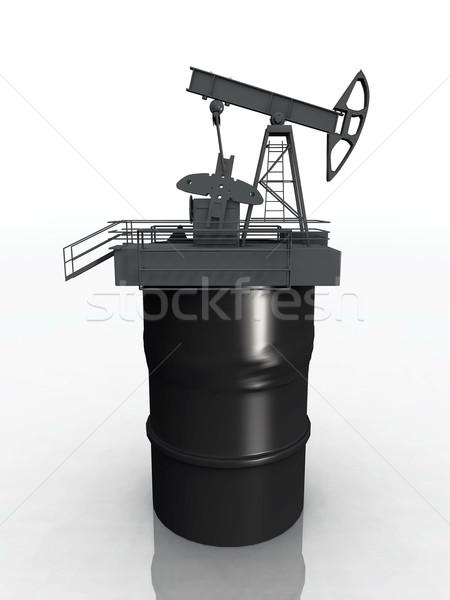 Olaj dob fém ipari energia benzin Stock fotó © njaj