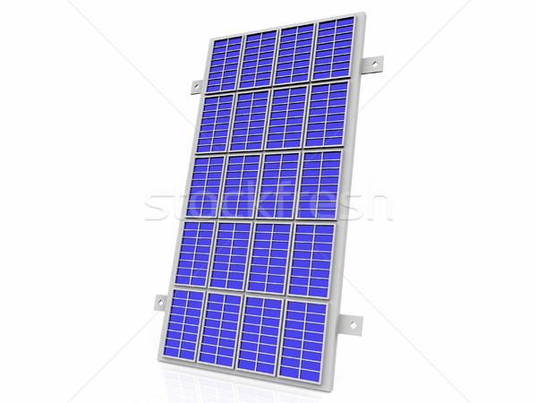 the solar cell panel on  white background Stock photo © njaj