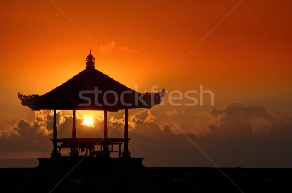 日没 バリ ビーチ 太陽 自然 海 ストックフォト © njaj