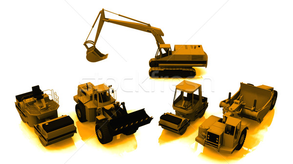 Inşaat makinalar beyaz teknoloji Metal kamyon Stok fotoğraf © njaj