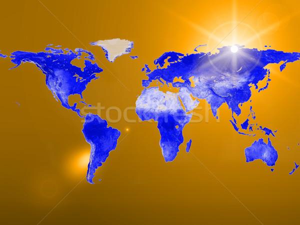 Terra mapa céu globo espelho planeta Foto stock © njaj