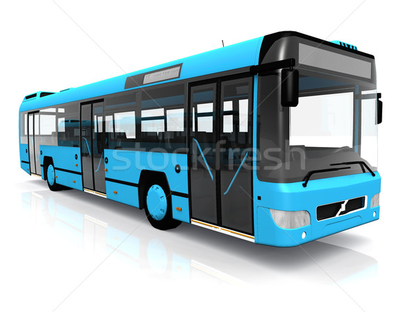 Stock photo: city bus on a white background