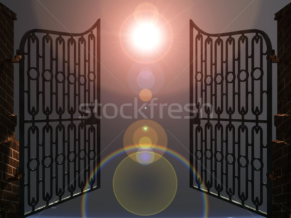 the gates of heaven Stock photo © njaj