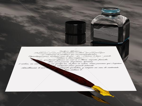 Culto tinta texto script símbolo espíritu Foto stock © njaj