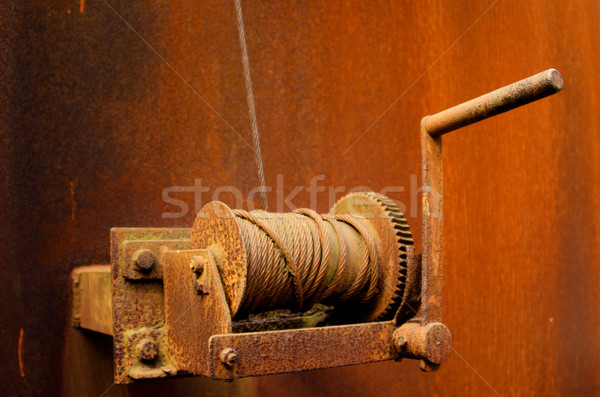 the manual winch Stock photo © njaj