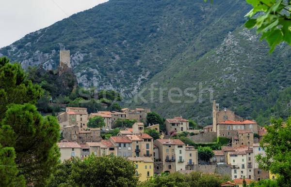 Roquebrun Herault Stock photo © njaj