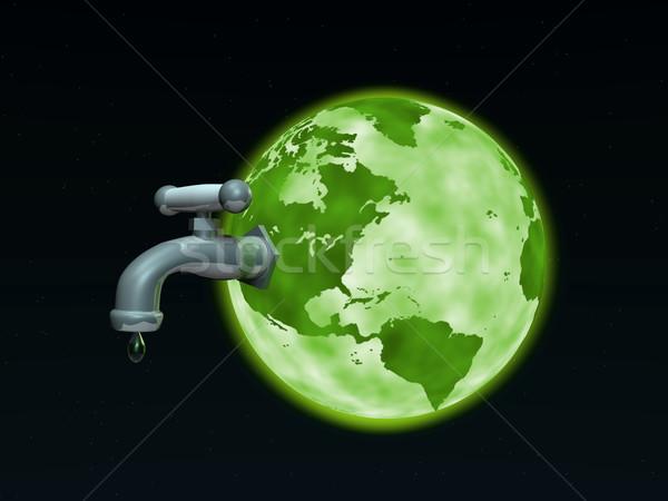 Ziemi kran obraz na zewnątrz świecie przestrzeni Zdjęcia stock © nmarques74