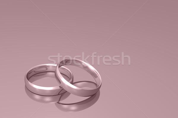 Obrączki srebrny ślub rodziny miłości złota Zdjęcia stock © nmarques74
