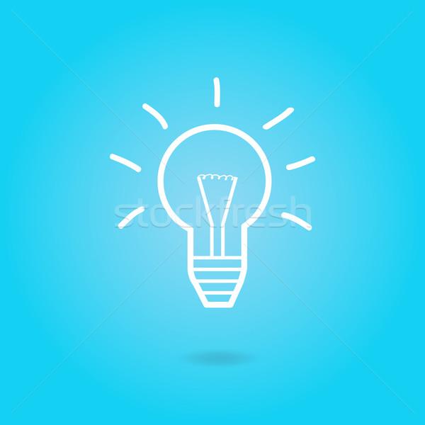 Pomysł żarówki obraz żarówka kolorowy niebieski Zdjęcia stock © nmarques74