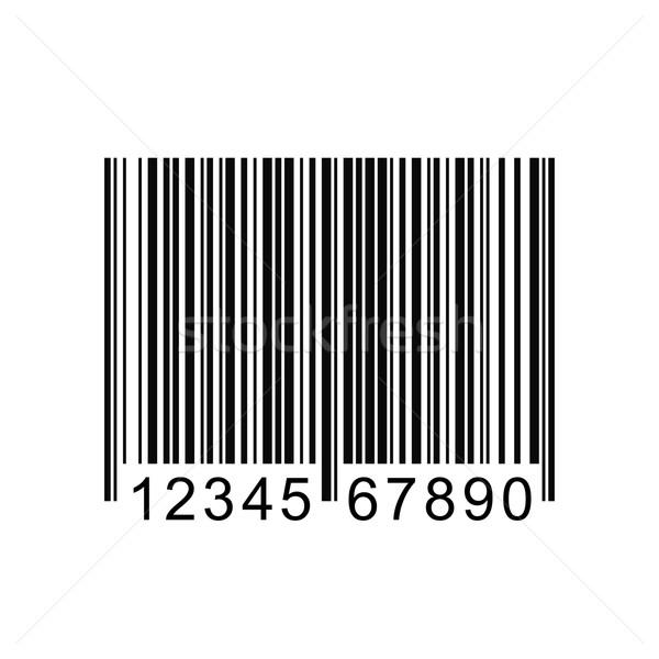 Kodów kreskowych obraz odizolowany biały usługi sklepu Zdjęcia stock © nmarques74
