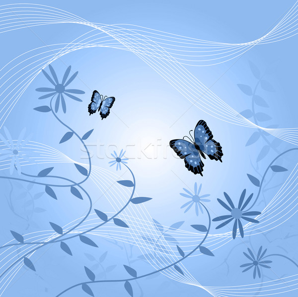 Kwiatowy obraz motyle pozostawia kwiaty Motyl Zdjęcia stock © nmarques74