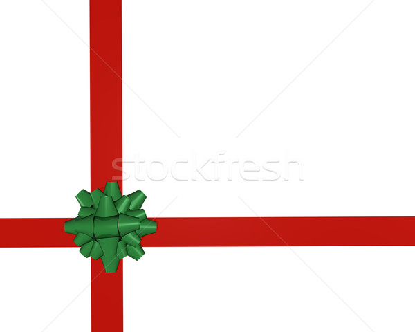 Zielone łuk biały urodziny tle Zdjęcia stock © nmarques74