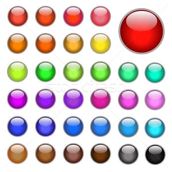 Internetowych przyciski świetle szkła bar grupy Zdjęcia stock © nmarques74