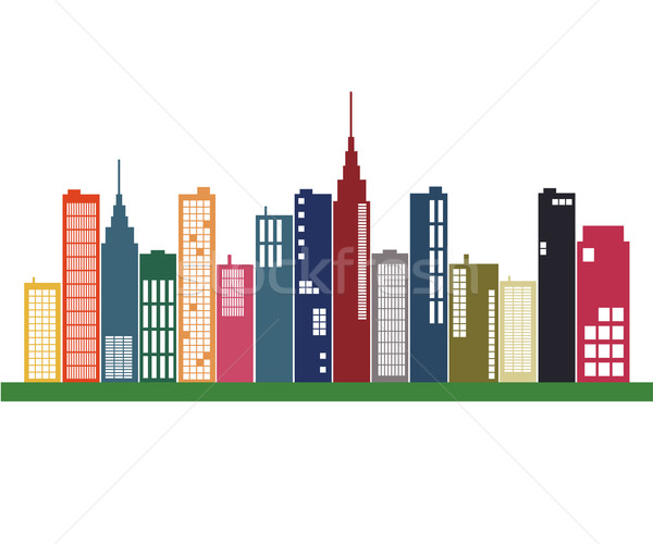 Colorful City Skyline Stock photo © nmarques74