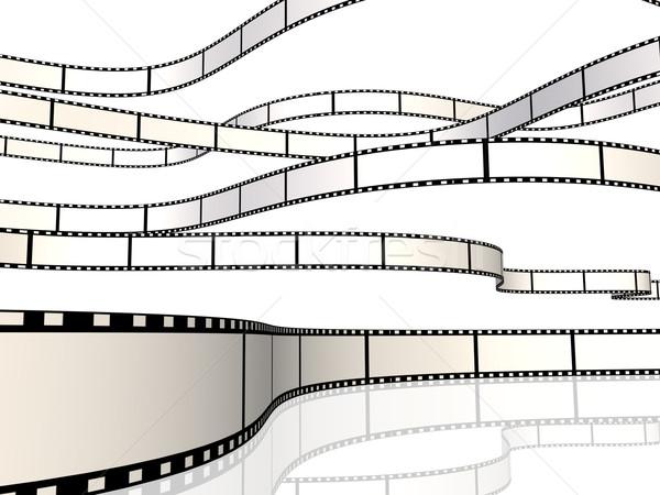 Film obraz wielokrotność odizolowany biały sztuki Zdjęcia stock © nmarques74