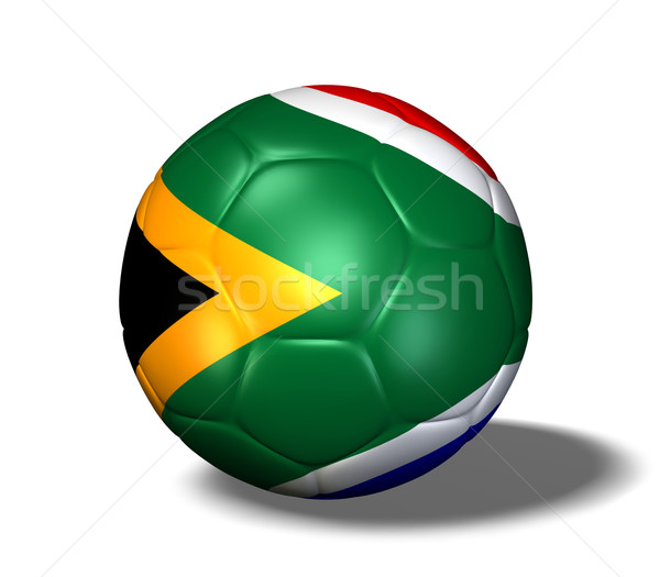 Południowej Afryki piłka obraz banderą świat piłka nożna Zdjęcia stock © nmarques74