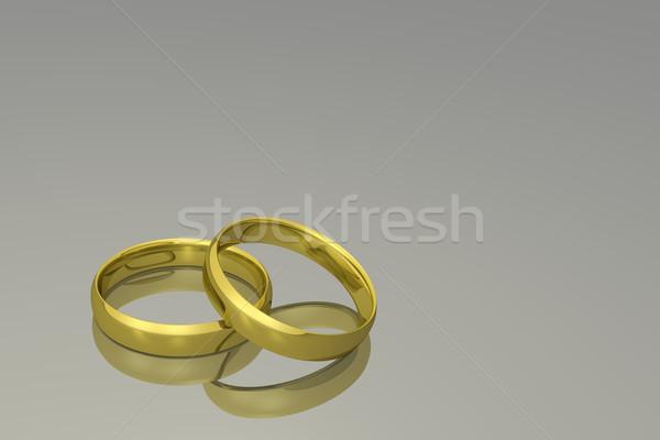 Stock photo: Gold Wedding Rings