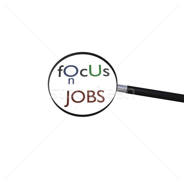 Skupić oferty pracy lupą wiadomość szkła korporacyjnych Zdjęcia stock © nmarques74