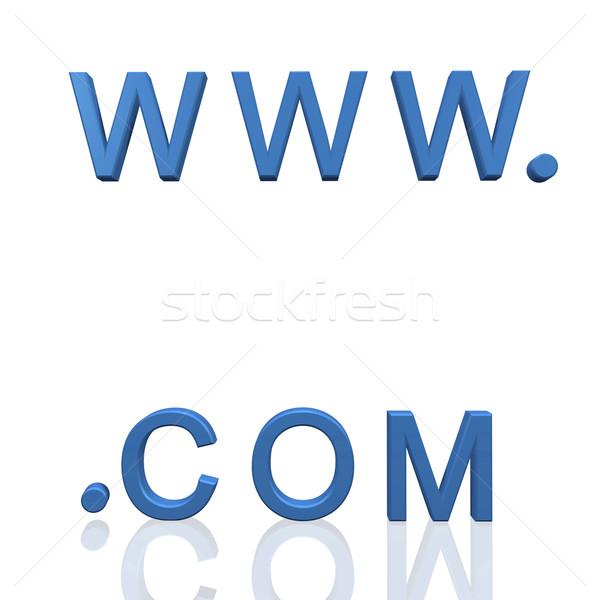 Www 3d tekst odizolowany biały świat tle Zdjęcia stock © nmarques74