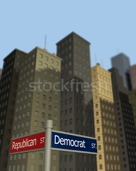 Democrat and Republican Streets Stock photo © nmarques74