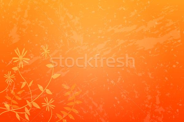 Kwiatowy grunge obraz pomarańczowy tekstury wiosną Zdjęcia stock © nmarques74