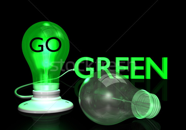 Go Green Light Bulb Stock photo © nmarques74