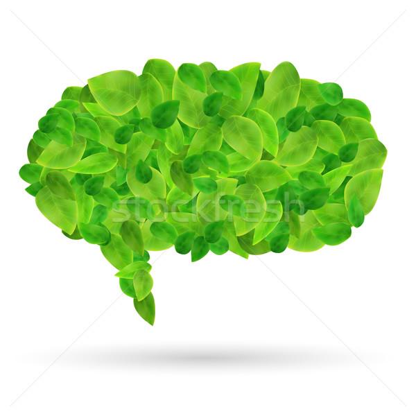 Chattare bolla foglie immagine colorato verde isolato Foto d'archivio © nmarques74