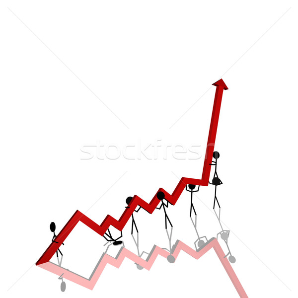 Stick Figures Chart Stock photo © nmarques74