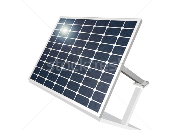 Zonnepaneel 3D zon technologie Blauw energie Stockfoto © nmarques74