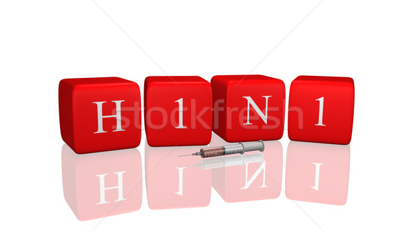 H1n1 messaggio 3D medici medicina Foto d'archivio © nmarques74