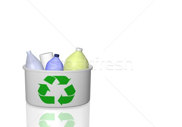 Recyklingu obraz odizolowany biały charakter Zdjęcia stock © nmarques74
