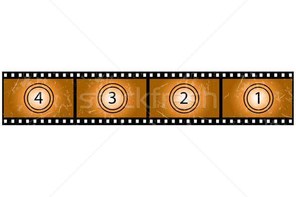 Гранж Film Reel изображение белый фильма фильма Сток-фото © nmarques74