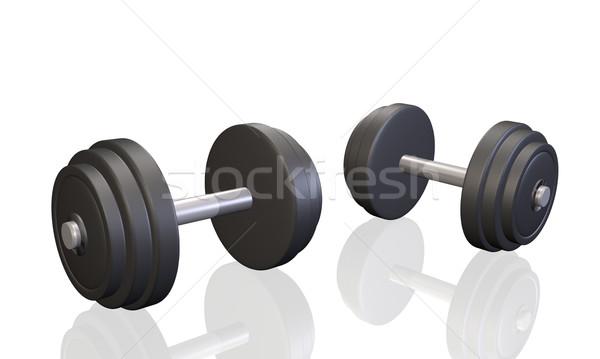 Wykonywania dwa odizolowany biały fitness zdrowia Zdjęcia stock © nmarques74