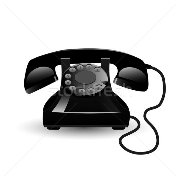 Vintage telefonu obraz odizolowany biały technologii Zdjęcia stock © nmarques74