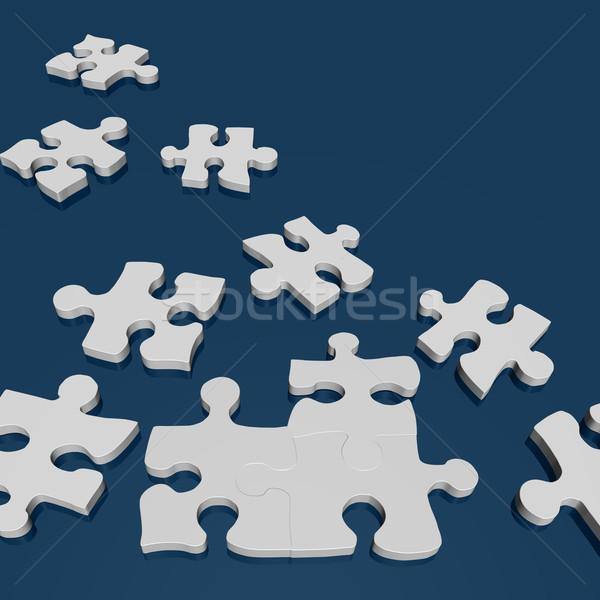 Puzzle obraz 3D zielone tle link Zdjęcia stock © nmarques74